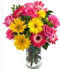 Vazoda Karışık mevsim çiçeği  Bayburt çiçekçi mağazası