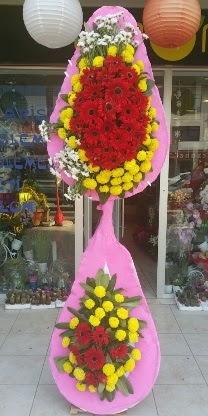 Çift katlı düğün nikah açılış çiçek modeli  Bayburt çiçekçiler