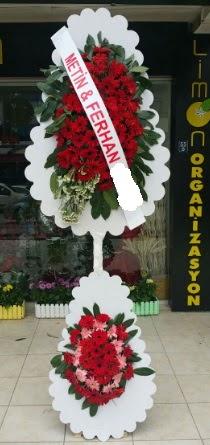 Çift katlı düğün nikah çiçeği modeli  Bayburt çiçek siparişi sitesi
