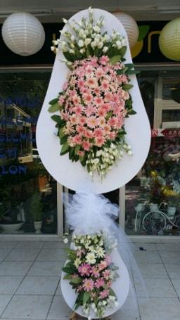 Çift katlı özel şahane sepet çiçeği  Bayburt çiçekçi telefonları