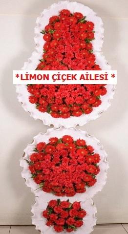 3 katlı kırmızı düğün açılış çiçeği  Bayburt çiçek gönderme