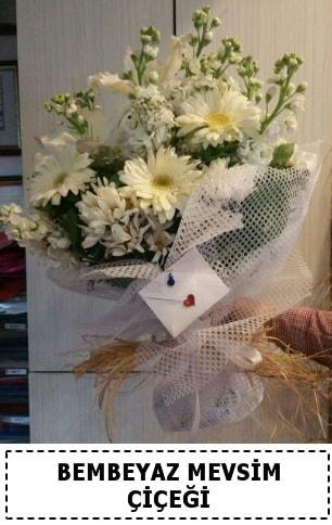 Bembeyaz görsel mevsim çiçek buketi  Bayburt çiçek yolla