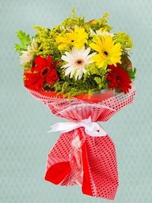 Karışık Gelbera Buketi  Bayburt çiçek siparişi sitesi