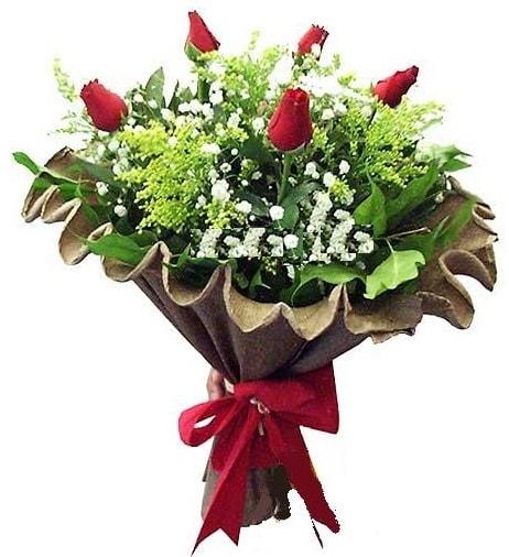5 adet gülden buket  Bayburt çiçek gönderme sitemiz güvenlidir