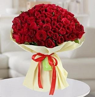 101 adet kırmızı gül buketi koca demet  Bayburt internetten çiçek siparişi