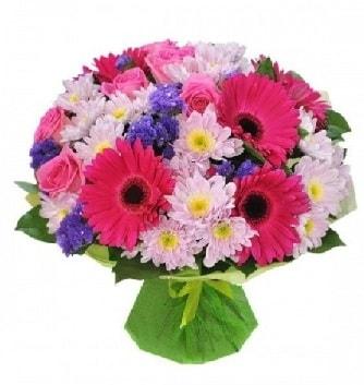 Karışık mevsim buketi mevsimsel buket  Bayburt çiçek satışı