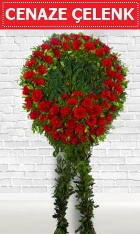 Kırmızı Çelenk Cenaze çiçeği  Bayburt İnternetten çiçek siparişi