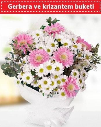 Papatya ve Gerbera Buketi  Bayburt çiçek , çiçekçi , çiçekçilik