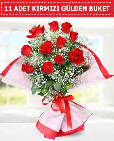 11 Adet Kırmızı Gül Buketi  Bayburt internetten çiçek siparişi
