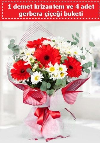 Krizantem ve Gerbera Buketi  Bayburt çiçek siparişi sitesi