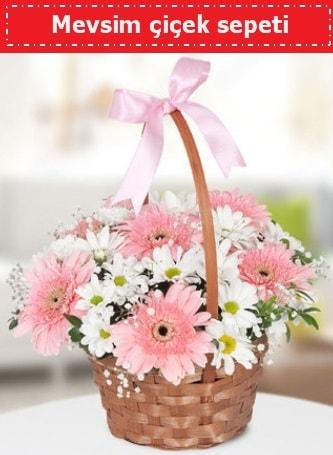 Mevsim kır çiçek sepeti  Bayburt çiçek , çiçekçi , çiçekçilik