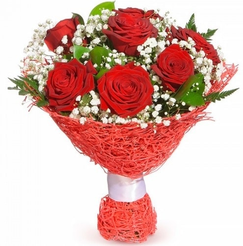 7 adet kırmızı gül buketi  Bayburt çiçekçiler