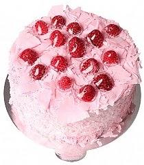 9 ile 12 Kişilik Frambuazlı yaş pasta